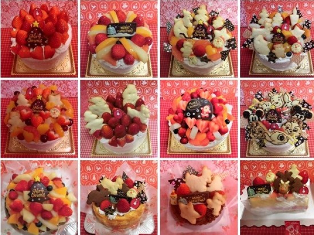 クリスマスホールデコレーションケーキ☆
